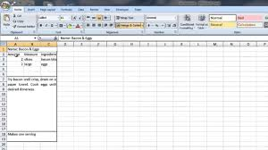 how to create a recipe template in word excel puter tips you