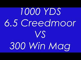 6 5 Creedmoor Vs 300 Win Mag Ballistics Chart Videos Matching 6 5 Creedmoor Vs 300 Winmag 1000 Yard
