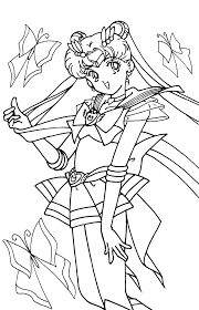 Small Picture New Sailor Moon Coloring Pages Top Coloring Bo 3847 Unknown