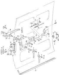 pictures of vw sliding door parts