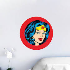 wonder woman wall decal wonder woman bedroom decor wonder