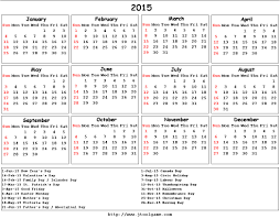 2015 Calendar Template With Canadian Holidays 2015 Calendar