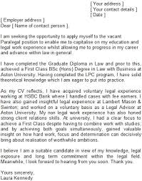 Paralegal Cover Letter Samples Paralegal Cover Letter Sample What To Include In A Uk Plus
