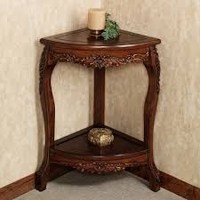 traditional corner accent table furniture with victoriana corner pedestal table design for designs t97 designs
