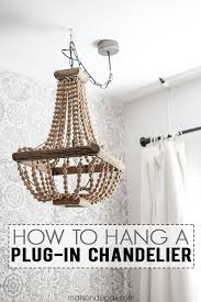 Amazing How To Hang A Plug In Chandelier Chandeliers Spaces And Lights  Regarding Plans 4