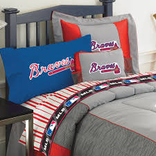atlanta braves full size pinstripe sheets set zoom