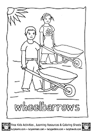 Christmas coloring pages for kids & adults to color in and celebrate all things christmas, from santa to snowmen to festive holiday scenes! Garden Coloring Pages Wheelbarrow Kids Garden Tools 2 Gif 603 848 Pixels Free Activities For Kids Gardening For Kids Garden Coloring Pages