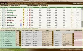Baseball Lineup And Position Chart Out Of The Park Developments Online Manuals
