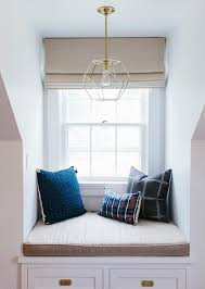 Bedroom Dormer Window Alcove with Built In Window Seat