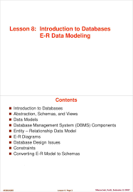 Er Design Issues Lesson 8 Introduction To Databases E R Data Modeling Pdf