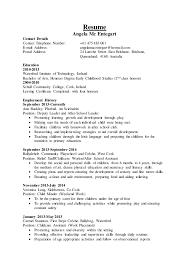 Child Care Resume Beauteous Childcare Resume