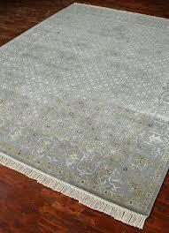 living sterling slate blue traditional rug reese wool