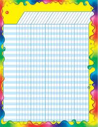 Paradigmatic Classroom Charts Design Teacher Reward Chart
