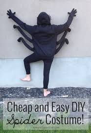 and easy diy spider costume would be a super cute idea to have a