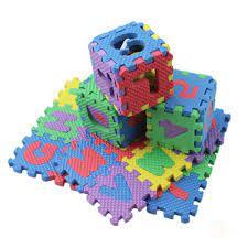 Set 36 thảm xếp hình bằng mút xốp in bảng chữ cái dành cho trẻ em