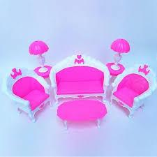 barbie furniture for dollhouse. Barbie Doll Dollhouse Furniture Living Room Parlour Sofa Chair Set 6PCS For I