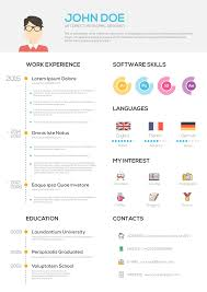 Flat Resume With Infographics Resume Cv Set On Behance Resume