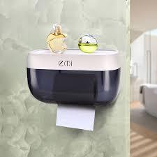 wall mounted suction tissue box dispenser napkin holder box paper tray roll drain shelf