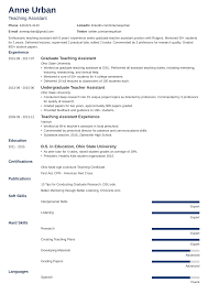 resume for teachers assistant teaching assistant resume sample job description 9 tips
