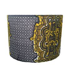 Detola And Geek New Lampshade Design Blue Yellow Tribal African