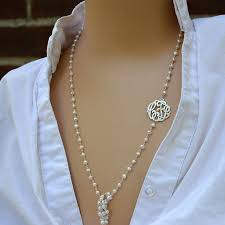 birthday gift monogram necklaces initial monogram necklaces long pearl necklaces initial monogrammed pearl necklaces custom monograms