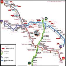 Metro Train Fares Chart In Hyderabad Hyderabad Metro Rail Route Map