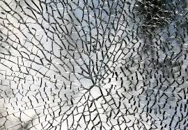 ed mirror fragmented glass