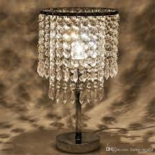 chrome round crystal chandelier bedroom nightstand table