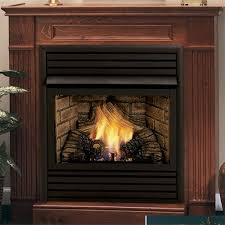 symphony 24 inch vent free gas fireplace remote ready with wall surround and hearth
