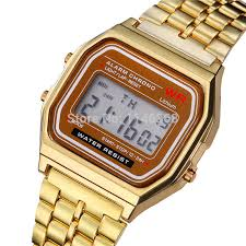 f 91w lcd digital watches stainless steel vintage luxury watches jc141 2 jpg jc141 1 jpg