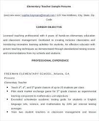 Elementary Teacher Resume Objective Resume Restaurant Elementary ...