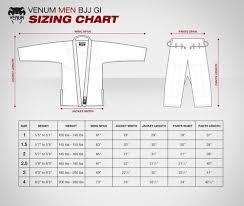 Jiu Jitsu Kimono Size Chart Venum Power 2 0 Bjj Gi Royal Blue