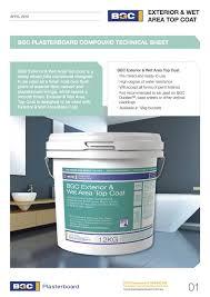 exterior joint compound. bgc exterior \u0026 wet area top coat technical sheet joint compound