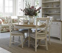 Painted Round Kitchen Table Cottage Oak And Painted Round Dining Table Oak Furniture Uk