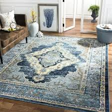 crystal blue yellow area rug grey and black