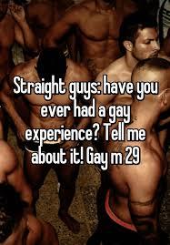 Experience gay man straight