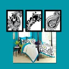 paisley wall art canvas or prints peacock feather by elephant turquoise