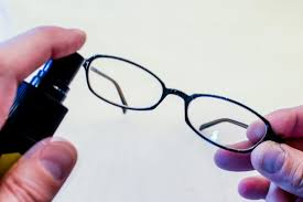 clean off smudges by spraying the front of the lenses with one to two sprays of an eyeglass cleaning solution polish the lenses gently using the microfiber