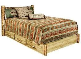 Rustic platform beds with storage Bedroom Sets Queen Queen Platform Bed With Storage Drawers Rustic Log Emichwp 54 Rustic Platform Bed With Storage Queen Platform Bed With Drawers