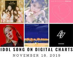 Music Chart Idol Songs On Korean Digital Charts November