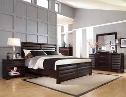 Brilliant Dark Wood Nightstand Sable Dark Wood Bedroom Set Bed 2  Nightstands Dresser Mirror