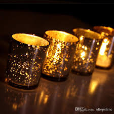 artifacts glass votive candle holder speckled silvery gold glass votive tealight candle holders for weddings parties