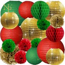 Flower Paper Lanterns Us 19 99 30 Off Nicro 18 Pcs Set Paper Lanterns Flower Pompom Christmas Tree Decorations Party Diy New Decor Decoration Home Kerst Noel Chr21 In