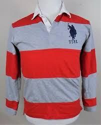 boys sz 14 16 red gray striped
