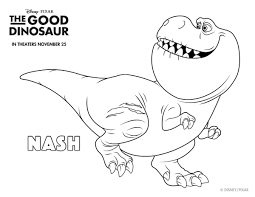 Small Picture Disney The Good Dinosaur Free Printable Nash Coloring Page