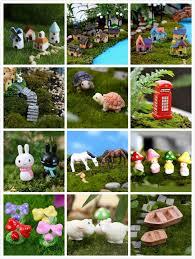 multi style miniature ornament diy fairy garden micro dollhouse plant pot decor bonsai terrarium ornament diy miniature garden