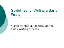 guidelines for writing a basic essay ppt  guidelines for writing a basic essay