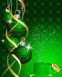green christmas background clipart. Beautiful Background Beautiful Green Christmas New Year Card With Balls Vector Image U2013  Artwork Of Click To Zoom On Green Background Clipart R
