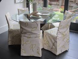 dining room furniture treatment ideas with dining chair slipcovers round gl top dining table sets