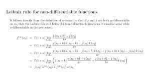 What Is Leibniz Rule For Caputos Fractional Derivative